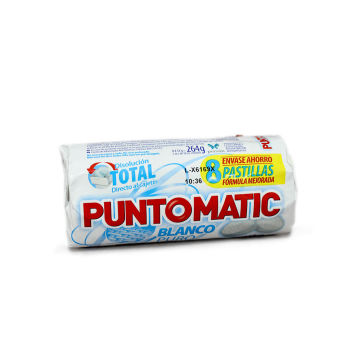 Punto Matic Blanco Puro Detergente Lavadora Patillas/ White Laundry Tablets