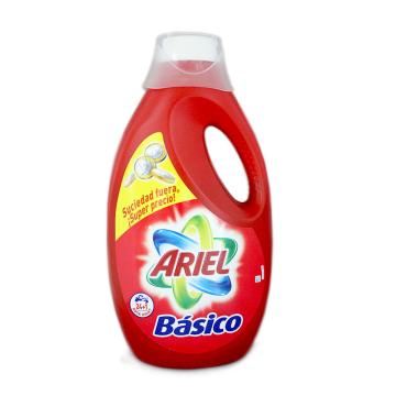 Ariel Básico Detergente Lavadora 1,560ml