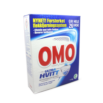Omo Pulver Ultra Hvitt 1,17Kg/ White Laundry Powder