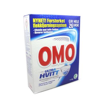 Omo Pulver Ultra Hvitt 1,17Kg/ Detergente Ropa Blanca