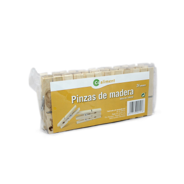 CoAliment Pinzas Tender Ropa Madera x24