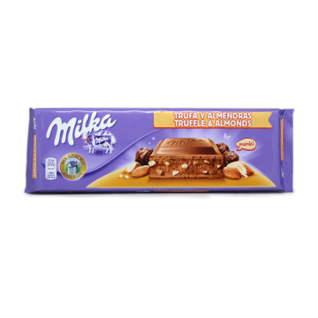 Milka Chocolate Trufa y Almendras 300g/ Chocolate Trufle&Almonds
