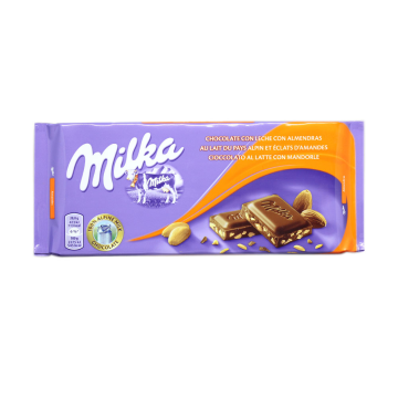 Milka Chocolate con Leche con Almendras 125g/ Milk Chocolate with Almonds
