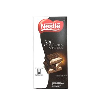 Nestlé Chocolate Sin azúcares Añadidos 125g/ Chocolate Sugar-free