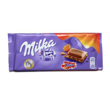 Milka Daim Melk Chocolade 100g/ Chocolate con Caremelo