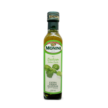Monini Olijfolie Met Basilicumaroma 250ml/ Olive Oil with Basil