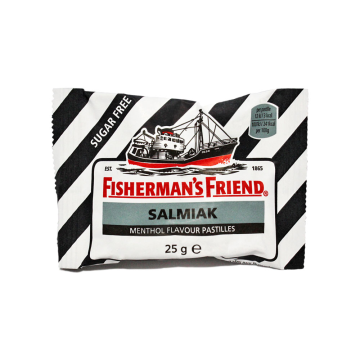Fisherman's Friend Salmiak Menthol 25g/ Liquorice Mint Candies