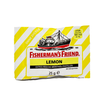 Fisherman's Friend Lemon 25g/ Liquorice Lemon Candies Sugar free
