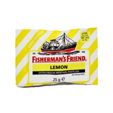 Fisherman's Friend Lemon 25g/ Liquorice Lemon Candies Sugar free