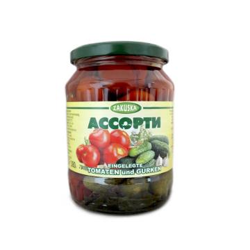 Ассорти Украсьте Ваш Стол 720ml/ Zakuska Surtido Pepino y Tomate 380g