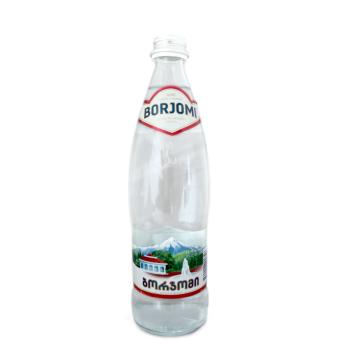Боржоми Вода с газом стекло 0.5л/ Borjomi Sparkling Watter Glass 0.5L