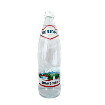 Боржоми Вода с газом стекло 0,5л/ Borjomi Sparkling Watter Glass 0,5L