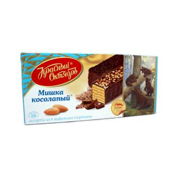 Мишка Косолапый Ассорти из вафельных тортиков 250г/ Mishka Kosolapiy Tartas Barquillo 250g