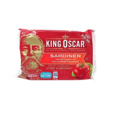 King Oscar Sardiner i Saus Laget Av Solmodne Tomater 100g/ Sardinas en Tomate