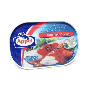 Appel Hering Filets in Tomaten-Creme 200g/ Herrings in Tomato Sauce