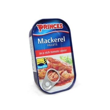 Princes Mackerel Filets in Tomato Sauce 125g/ Mackerel in Tomato Sauce
