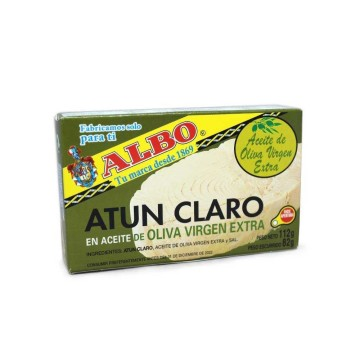 Albo Atún Claro en Aceite de Oliva 112g/ Tuna in Olive Oil