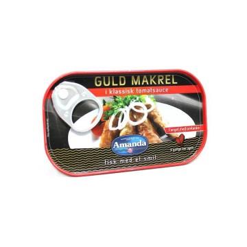 Amanda Guld Makrel i Klassisk Tomatsauce 125g/Mackerel in Tomato