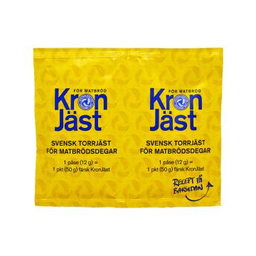 Kron Jäst For Matbrödsdegar 2x12g/ Levadura