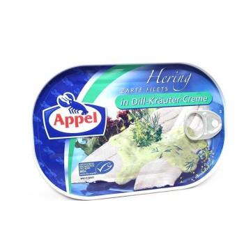 Appel Hering Filets in Dill-Kräuter-Creme 200g/ Herring in Dill Cream