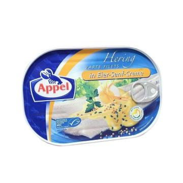 Appel Hering Filets in Eir-Senf-Creme 200g/ Arenques en Mostaza y Huevo