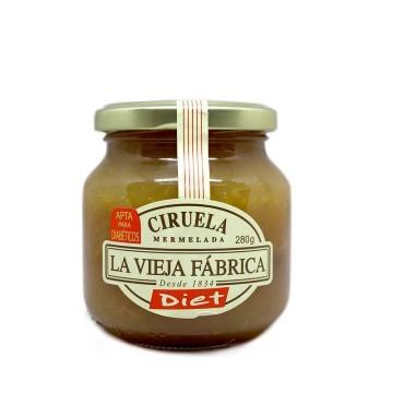 La Vieja Fábrica Diet Mermelada Ciruela 280g/ Plum Jam for Diabetics