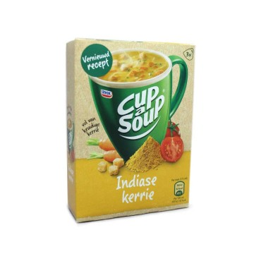 Unox Cup a Soup Indiase Kerrie x3/ Packet Soup Indian Curry