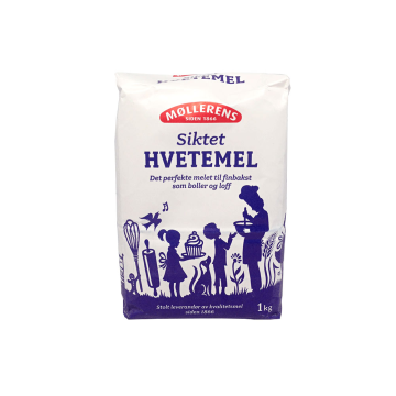 Møllerens Siktet Hvetemel / Harina de Trigo Tamizada 1Kg