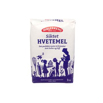 Møllerens Siktet Hvetemel 1Kg/ Wheat Flour