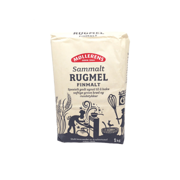 Møllerens Sammalt Rugmel Finmalt 1Kg/ Fine Whole Rye Flour