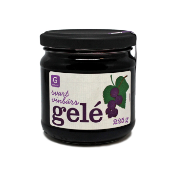Garant Svart Vinbärs Gelé 225g/ Jalea Grosella