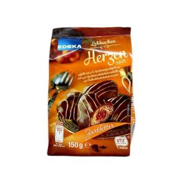 Edeka Lebkuchen Herzen Zartbitter 150g/ Choco Hearts
