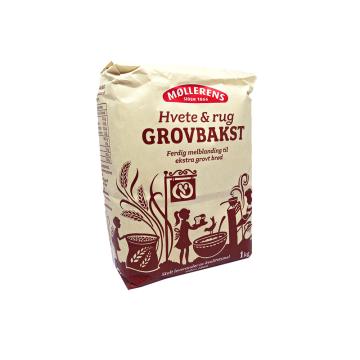Møllerens Grovbakst 1Kg/ Harina gruesa de Trigo y Centeno Integral