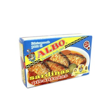 Albo Sardinas Picantonas 125g/ Spicy Sardines