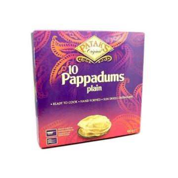 Patak's Pappadums Plain x10