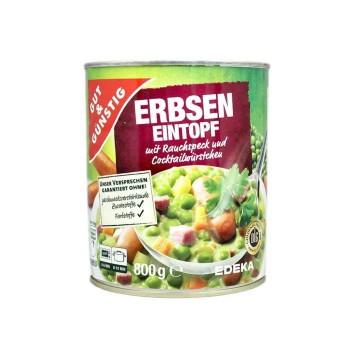 Gut&Günstig Erbseneinstopf mit Würstchen 800g/ Peas&Sausage Stew