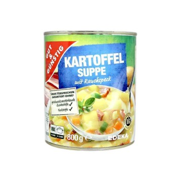 Gut&Günstig Kartoffel Suppe 800g/ Potatoes Soup