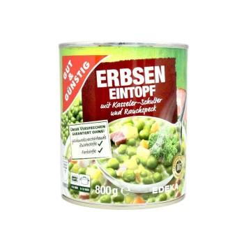 Gut&Günstig Erbseneinstopf mit Kasseler und Rauchspeck 800g/ Peas&Pork Stew