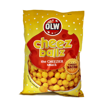 Olw Cheez Ballz Nacho 160g/ Snack Bolitas de Queso