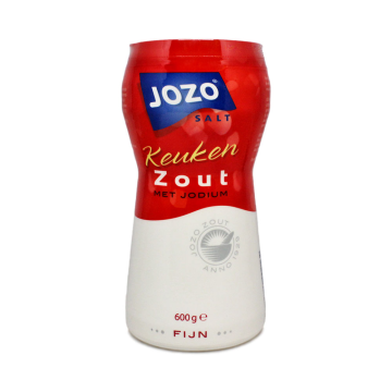 Jozo Puur Zout 03 Fin Med Jodium 600g/ Fine Pure Salt with Idoine