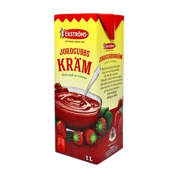 Ekströms Jordgubbs Kräm 1L/ Salsa de Fresa