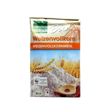 Edeka Bio Weizenvollkornmehl 1Kg/ Harina Trigo Integral