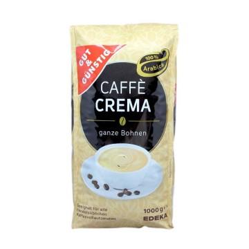 Gut&Günstig Caffè Crema Ganze Bohnen 1kg/ Café en Grano Cremoso