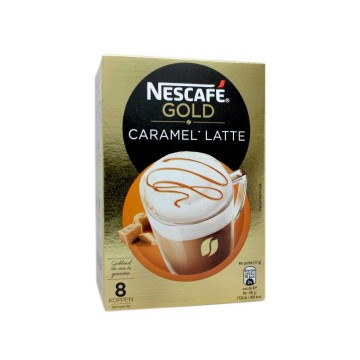 Nescafé Gold Caramel Latte x8/ Sobres Latte Caramelo Instantáneo