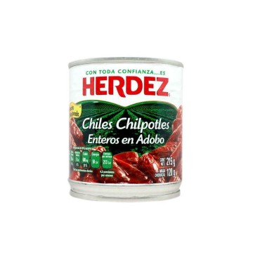 Herdez Chipotles Enteros en Adobo 215g/ Whole Chipotles