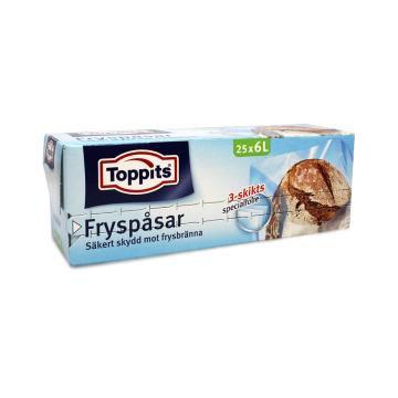 Toopits Fryspasar 25x6L/ Freezer Bags