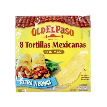 Old El Paso Tortillas Mexicanas Maíz x8/ Mexican Corn Wraps