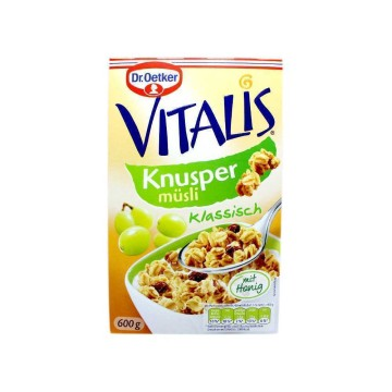 Dr.Oetker Vitalis Knusper Müsli 600g/ Muesli con Pasas
