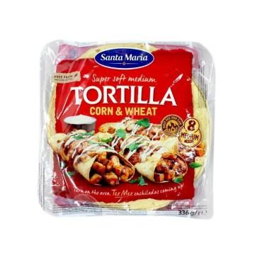 Santa Maria Tortilla Corn&Wheat x8/ Tortillas Trigo y Maíz