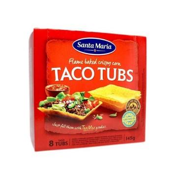 Santa Maria Taco Tubs x8/ Bandejas de Maíz